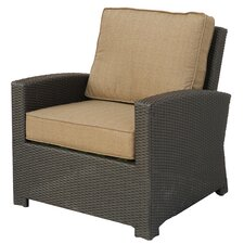 Vienna Wicker Club Chair with Cushion