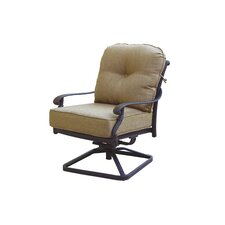 Santa Monica Swivel Club Rocking Chair with Cushions