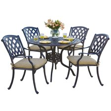 Ocean View 5 Piece Dining Set with Cushion