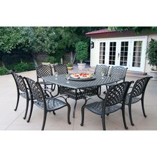 Nassau 10 Piece Dining Set with Cushion