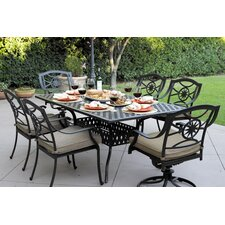 Ten Star 7 Piece Dining Set with Cushion