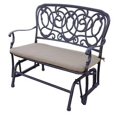 Florence Glider Bench with Cushion