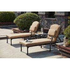 Madison 3 Piece Chaise Lounge Set with Cushions