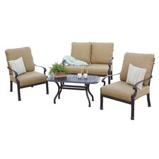 Santa Barbara 4 Piece Deep Seating Group with Cushions