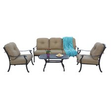 Sedona 4 Piece Deep Seating Group with Cushions