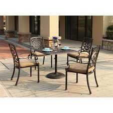 Santa Barbara 5 Piece Dining Set with Cushions