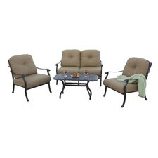 No Copoun Sedona 4 Piece Deep Seating Group with Cushions