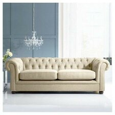 Crimson 3 Seater Chesterfield Sofa