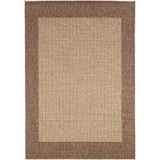 Recife Checkered Field Natural Area Rug