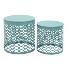 2 Piece Side Table Set