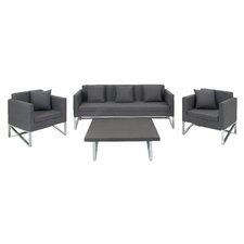 Aluminum Fabric Modular 4 Piece Deep Seating Group
