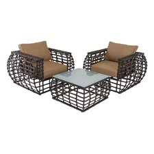 3 Piece Deep Seating Group with Cushions