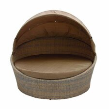 Metal PE Rattan Cabana Daybed with Cushions