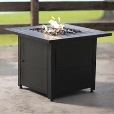 Slatted Propane Fire Pit Table
