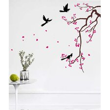 Cherry Blossom Branch Flower Wall Decal