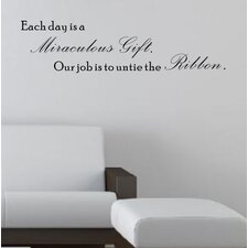 Each Day Is Miraculous Gift Wall Decal