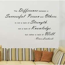 The Difference Between a Successful Person and Others Wall Decal
