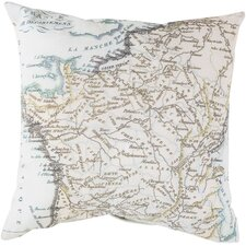 Mapped in Magnificence Outdoor Throw Pillow