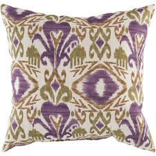 Ikat Grape Indoor/Outdoor Throw Pillow