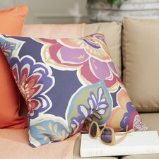 Fabulously Floral Outdoor Throw Pillow
