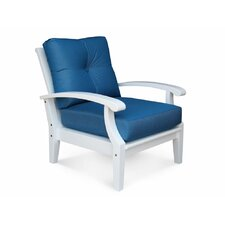 Cayman White Lounge Chair with Cushion