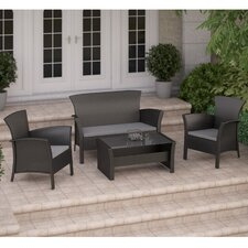 Wonderful Cascade 4 Piece Lounge Seating Group with Cushions