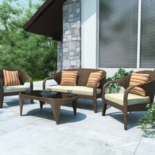 Harrison 4 Piece Lounge Seating Group with Cushions