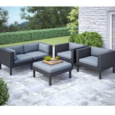 Wonderful Oakland 5 Piece Lounge Seating Group with Cushions