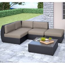 Seattle 5 Piece Lounge Seating Group with Cushions