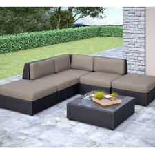 Seattle 6 Piece Lounge Seating Group with Cushion