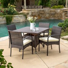 Abson 5 Piece Dining Set with Cushions