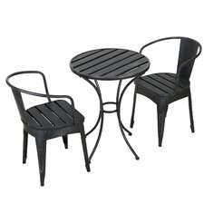 Barringer 3 Piece Bistro Dining Set