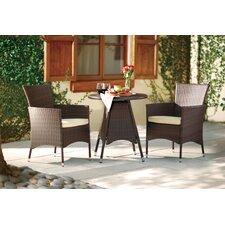 2017 Coupon Betria 3 Piece Bistro Set with Cushions