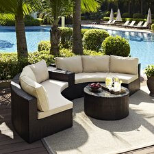 Cleopatra 4 Piece Deep Seating Group with Cushion