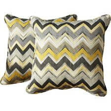 Acton Turville Chevron Indoor/Outdoor Throw Pillow (Set of 2)