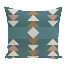 Kleopatros Geometric Outdoor Throw Pillow