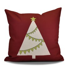 Lovely Christmas Tree Outdoor Throw Pillow