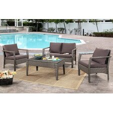 Arter 4 Piece Deep Seating Group with Cushions