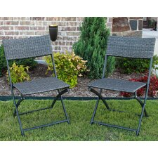 Artiaga Folding Resin Wicker Patio Chair (Set of 2)