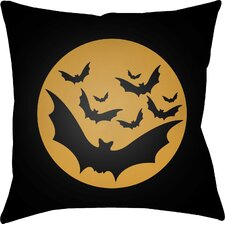 Boustrophedon Bats Indoor/Outdoor Throw Pillow