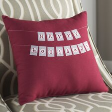 Clemmie Happy Holidays Outdoor Throw Pillow