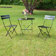 Bleich 3 Piece Bistro Set
