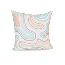 Block Agate Geometric Outdoor Throw Pillow