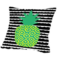 Bromberg Tropical Pineapple Outdoor Throw Pillow