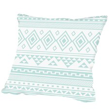 Read Reviews Calhoun Mint Tribal Outdoor Throw Pillow