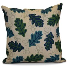 Morano Retro Leaves Floral Outdoor Throw Pillow