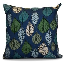 Morano Leaves Floral Outdoor Throw Pillow