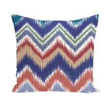 Borasisi Chevron Stripes Print Outdoor Pillow