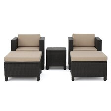 Delfino 5 Piece Lounge Seating Group with Cushion