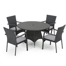 Babin 5 Piece Dining Set with Cushion